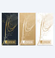 chocolate bar packaging set trendy luxury product vector image vector image