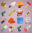 construction icons set1 1 vector image vector image