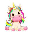 cute unicorn baby vector image
