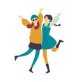 dancing people female dancers asian girls having vector image vector image