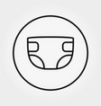diaper universal icon editable thin line vector image
