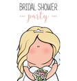 doodle character cute bride Romantic vector image vector image