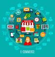 E-commerce flat concept