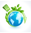 Ecology symbol globe vector image vector image