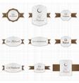 Eid Mubarak greeting Labels Set vector image