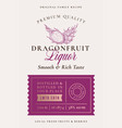 family recipe dragon fruit liquor acohol label vector image vector image