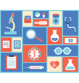 Flat medical symbols and instruments vector image vector image