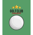 golf club golfing related icons image vector image vector image