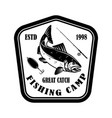 great catch fishing club emblem template with vector image vector image
