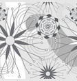 grey and white geometric modern flowers seamless vector image vector image