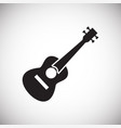 guitar icon on white background for graphic and vector image vector image