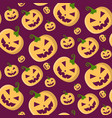 halloween seamless pattern with pumpkins in vector image vector image