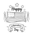 happy independence day collection hand draw vector image vector image