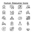 human resource management icon set in thin line vector image