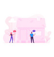 iot smart house monitoring concept man and woman vector image