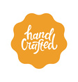 label and badge with hand-lettering type vector image vector image
