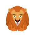 lion happy emoji avatar wild animal merry emotion vector image vector image