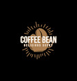 logo coffee beans vector image