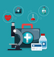 medical service set icons vector image vector image