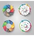 Modern circular infographics design set vector image
