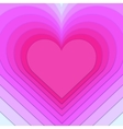 multi-layered heart background vector image vector image
