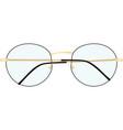 nerd glasses vector image