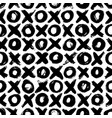 noughts and crosses hand drawn seamless pattern vector image