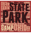 Ohio State Parks text background wordcloud concept vector image vector image