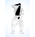 old school rap dancer vector image vector image