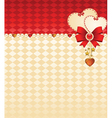 Ornate background with hearts vector image