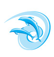 ornate dolphins background vector image