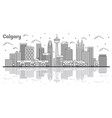 outline calgary canada city skyline with modern vector image vector image