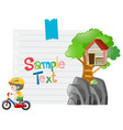 paper design with boy riding bike vector image