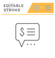 payment info editable stroke line icon vector image vector image