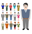 People icons set vector image