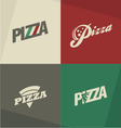 Pizza icons labels logos symbols vector image vector image