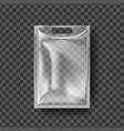 plastic hanger pocket bag transparent hang vector image vector image