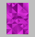 polygonal violet triangle flyer - abstract purple vector image vector image