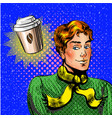pop art man thinking about vector image vector image