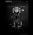 poster chopper motorcycle isolated vector image vector image