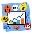 Presentation of business development concept vector image vector image