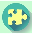 Puzzle icon Flat design style vector image vector image