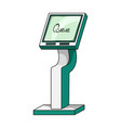 queue access terminal terminals single icon in vector image vector image