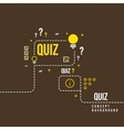 Quizzes school exam quiz abstract vector image