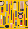 realistic makeup pattern or background vector image