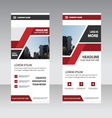 red elegance business roll up banner template