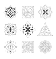 Regular Shape Doodle Ornamental Figures In Black vector image vector image