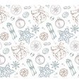 seamless pattern with christmas spices and citrus vector image vector image