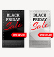set of black friday sale banners vector image vector image