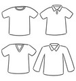 set of t-shirt vector image